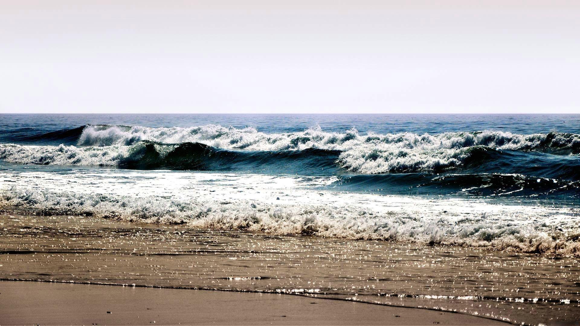 16993 скачать обои Пейзаж, Море, Волны, Пляж - заставки и картинки бесплатно
