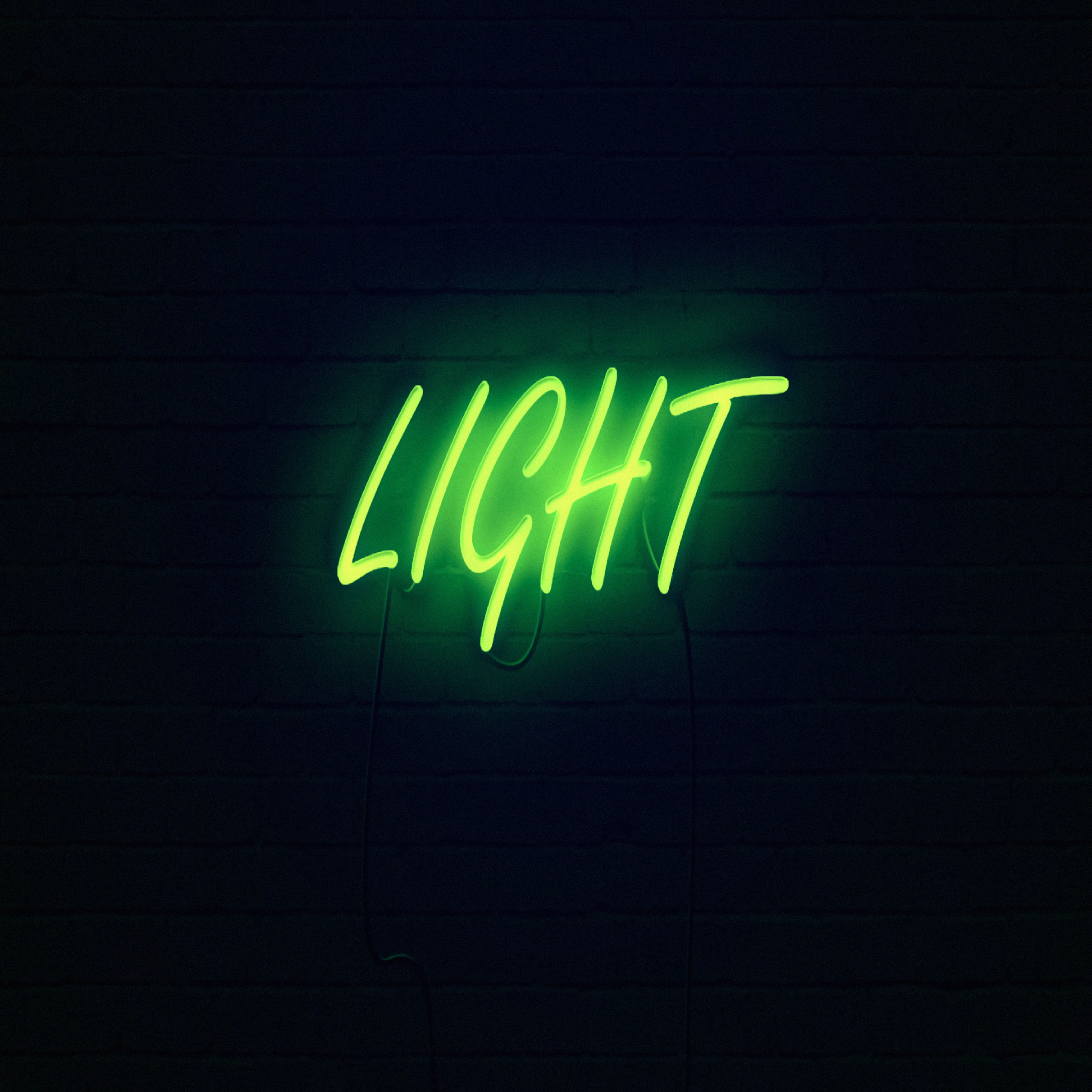 65741 download wallpaper Words, Shine, Light, Neon, Inscription, Dark screensavers and pictures for free