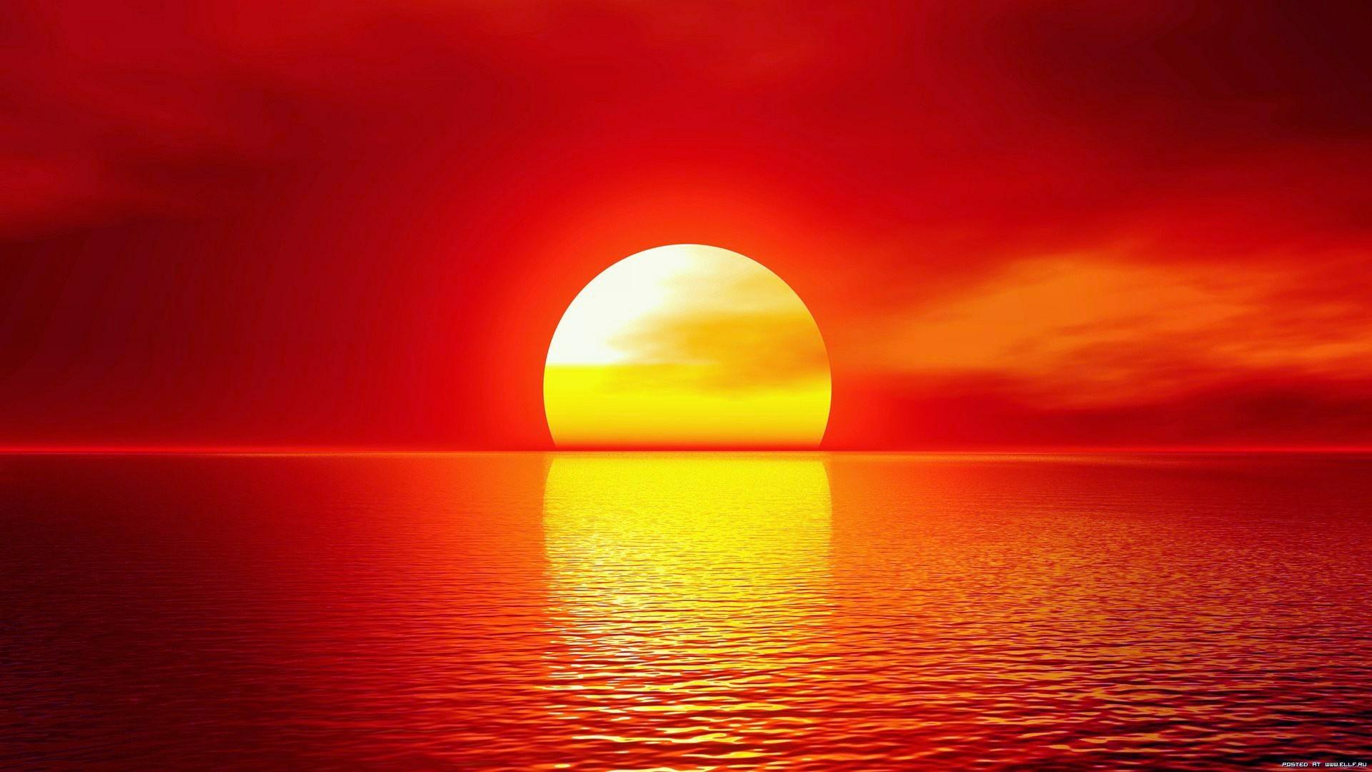 20564 скачать обои Пейзаж, Закат, Море, Солнце - заставки и картинки бесплатно