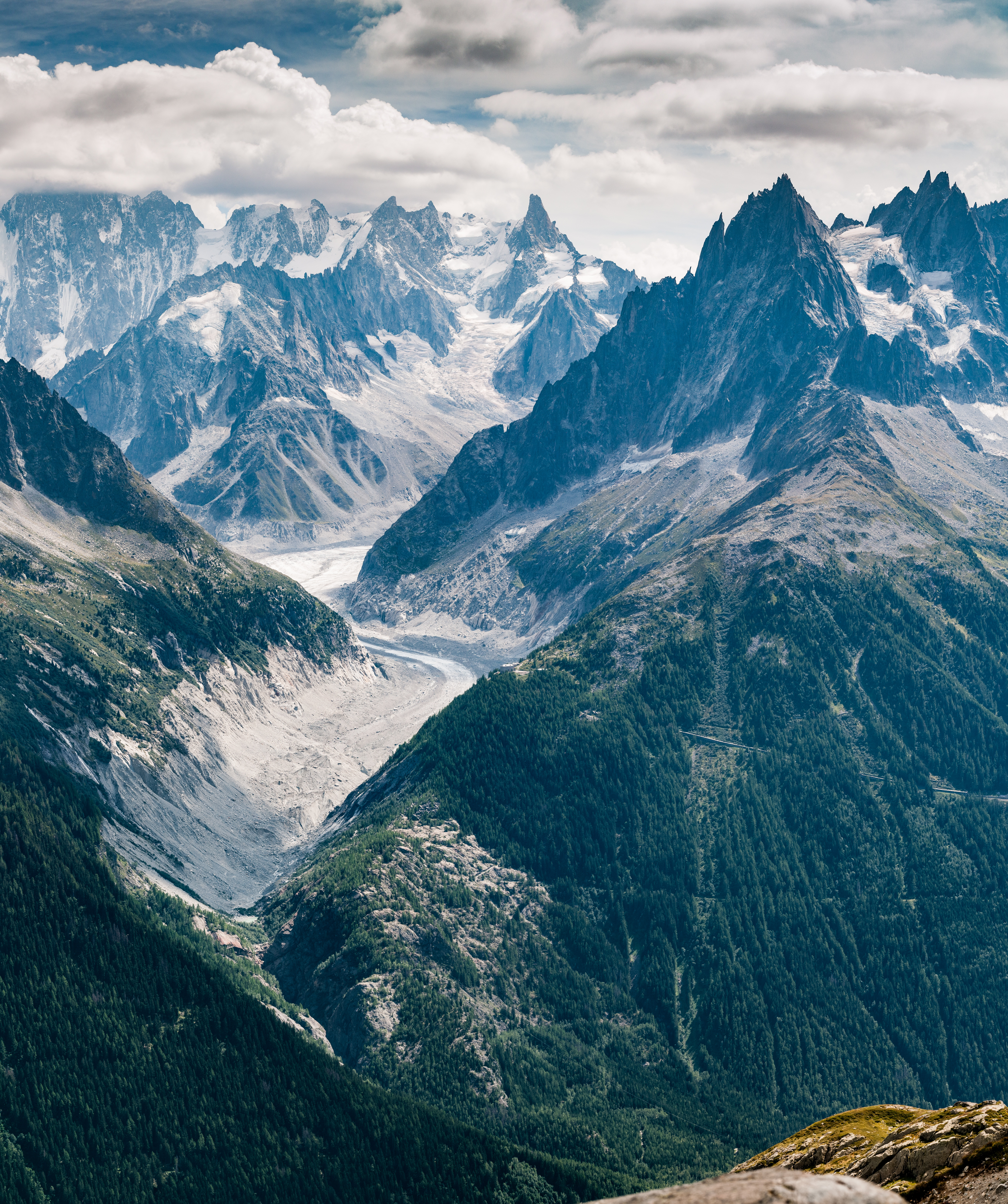 83212 Hintergrundbild 720x1280 kostenlos auf deinem Handy, lade Bilder Natur, Mountains, Blick Von Oben, Straße, Frankreich, Oberteile, Scheitelpunkt, Chamonix 720x1280 auf dein Handy herunter