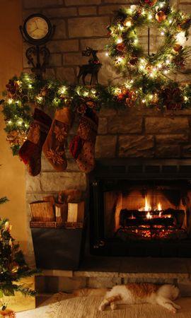 14046 скачать обои Праздники, Деревья, Новый Год (New Year), Интерьер, Елки, Рождество (Christmas, Xmas) - заставки и картинки бесплатно