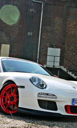 138766 скачать Белые обои на телефон бесплатно, Тачки (Cars), Порш (Porsche), Gt3, Rs, Порше, Белый Белые картинки и заставки на мобильный