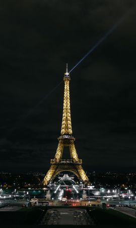 129995 baixar papel de parede Paris, Cidade Noturna, Luzes Da Cidade, França, Cidades, Torre Eiffel - protetores de tela e imagens gratuitamente