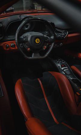 132943 télécharger le fond d'écran Voitures, Ferrari, Voiture, Volant, Gouvernail, Séance, Siège, Salon - économiseurs d'écran et images gratuitement