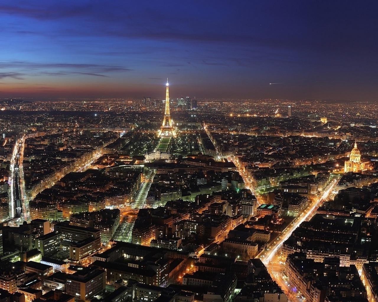 14875 скачать обои Пейзаж, Города, Ночь, Архитектура, Париж, Эйфелева Башня - заставки и картинки бесплатно
