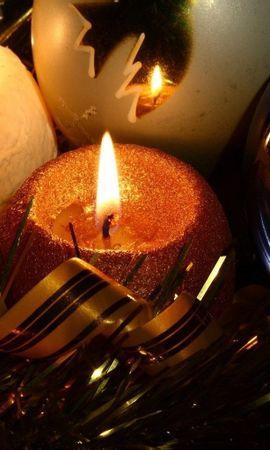 2283 скачать обои Праздники, Новый Год (New Year), Свечи - заставки и картинки бесплатно