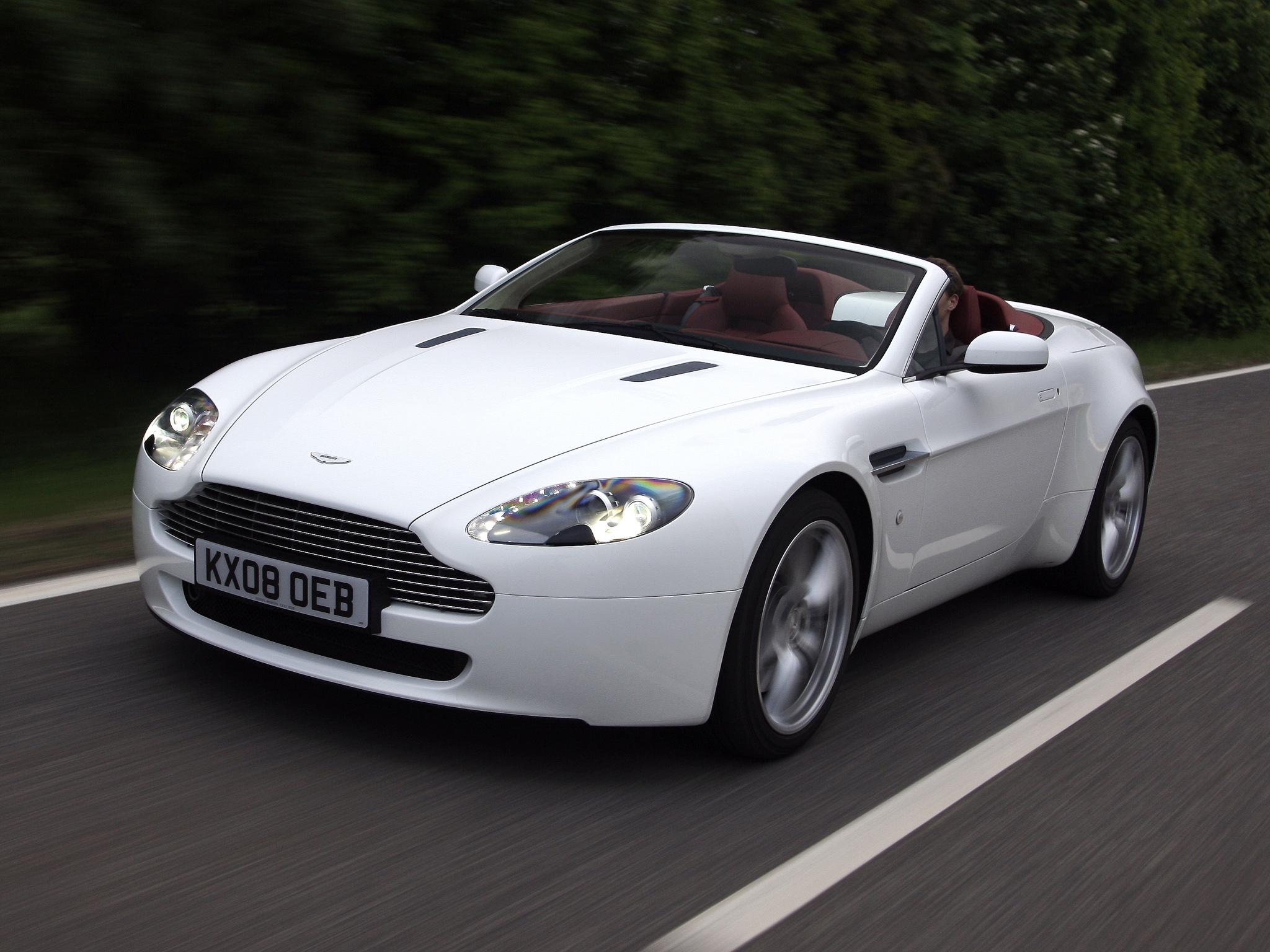 62716 скачать обои Машины, Астон Мартин (Aston Martin), Тачки (Cars), Вид Спереди, Белый, Скорость, 2008, V8, Vantage - заставки и картинки бесплатно