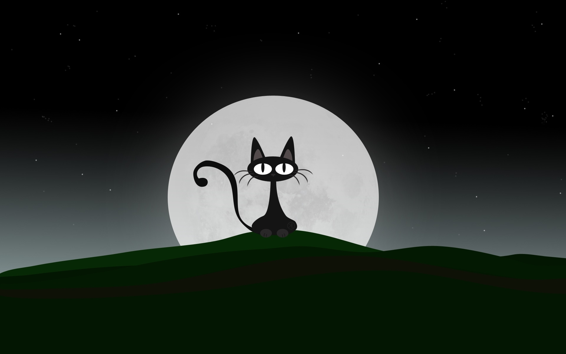 4048 download wallpaper Cats, Moon, Pictures screensavers and pictures for free