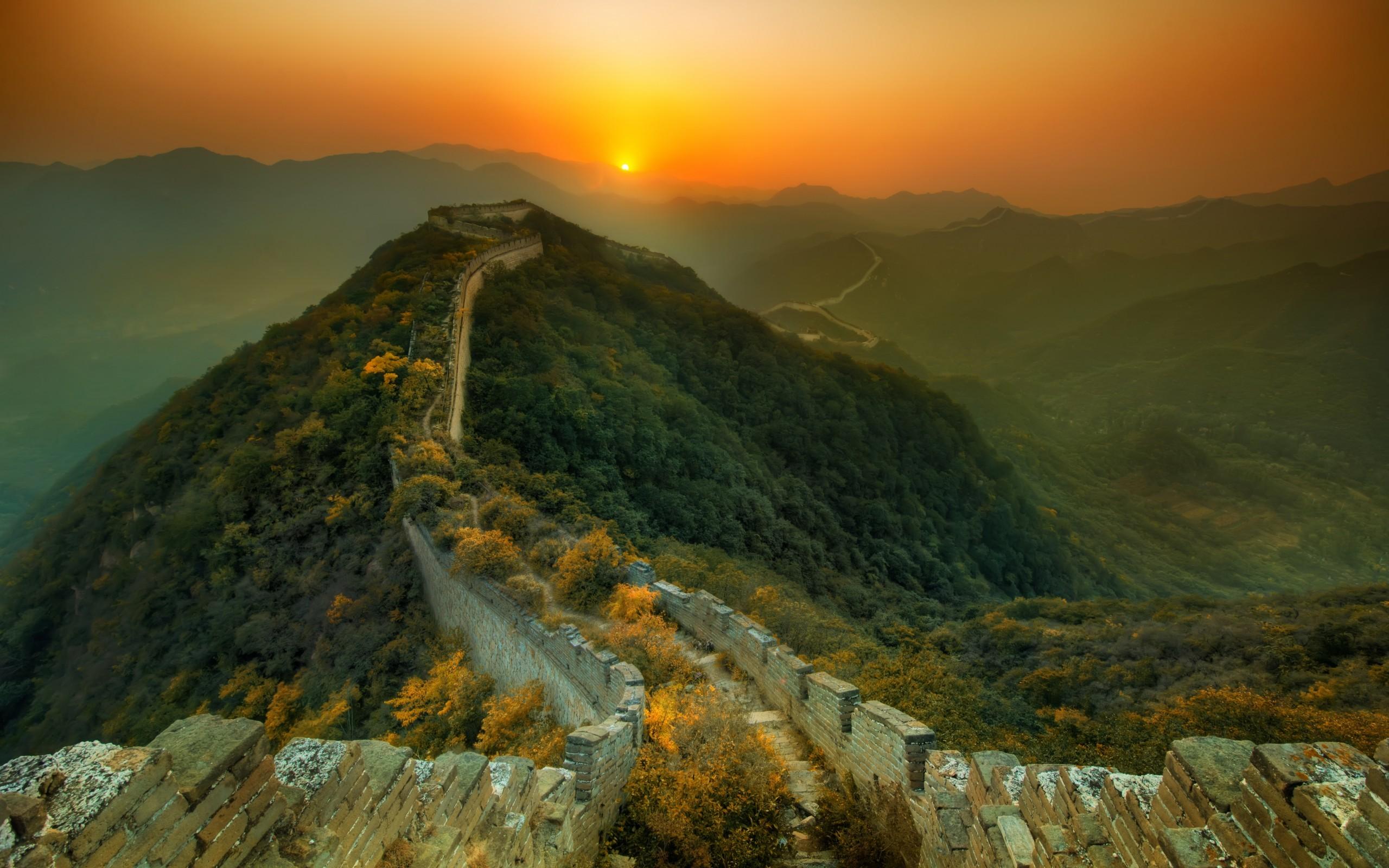 48695 fond d'écran 1080x2340 sur votre téléphone gratuitement, téléchargez des images La Grande Muraille De Chine, Paysage, Nature 1080x2340 sur votre mobile