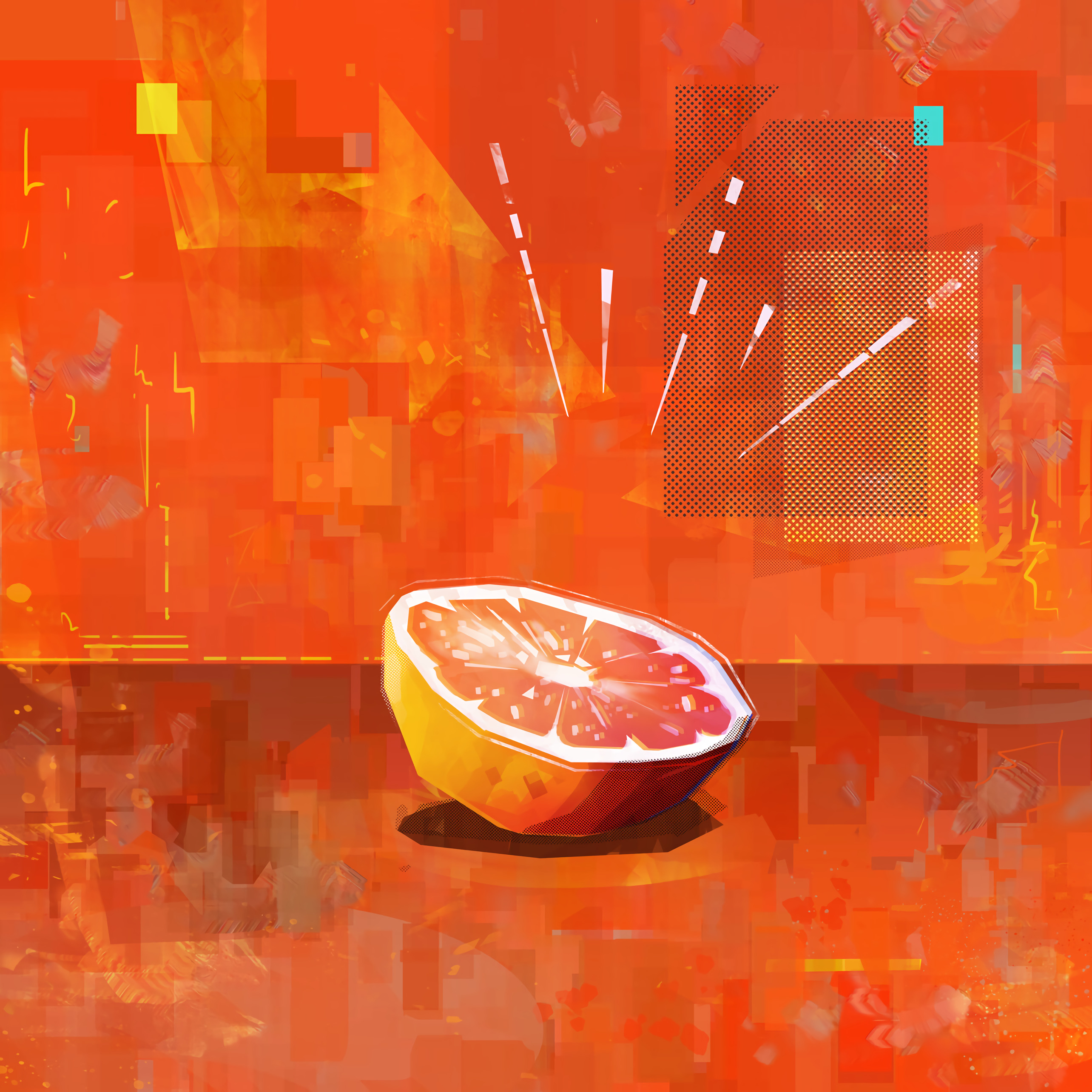 71847 download wallpaper Art, Fruit, Citrus, Lobules, Slices screensavers and pictures for free