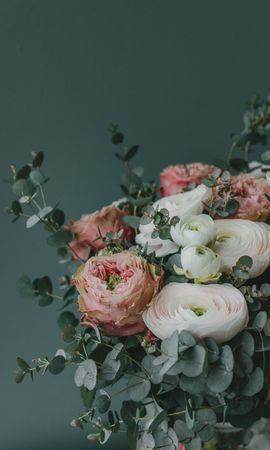 153435 download wallpaper Flowers, Bouquet, Composition, Registration, Typography screensavers and pictures for free
