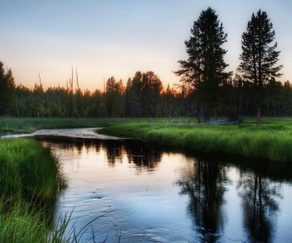 14279 скачать обои Пейзаж, Вода, Река, Закат - заставки и картинки бесплатно