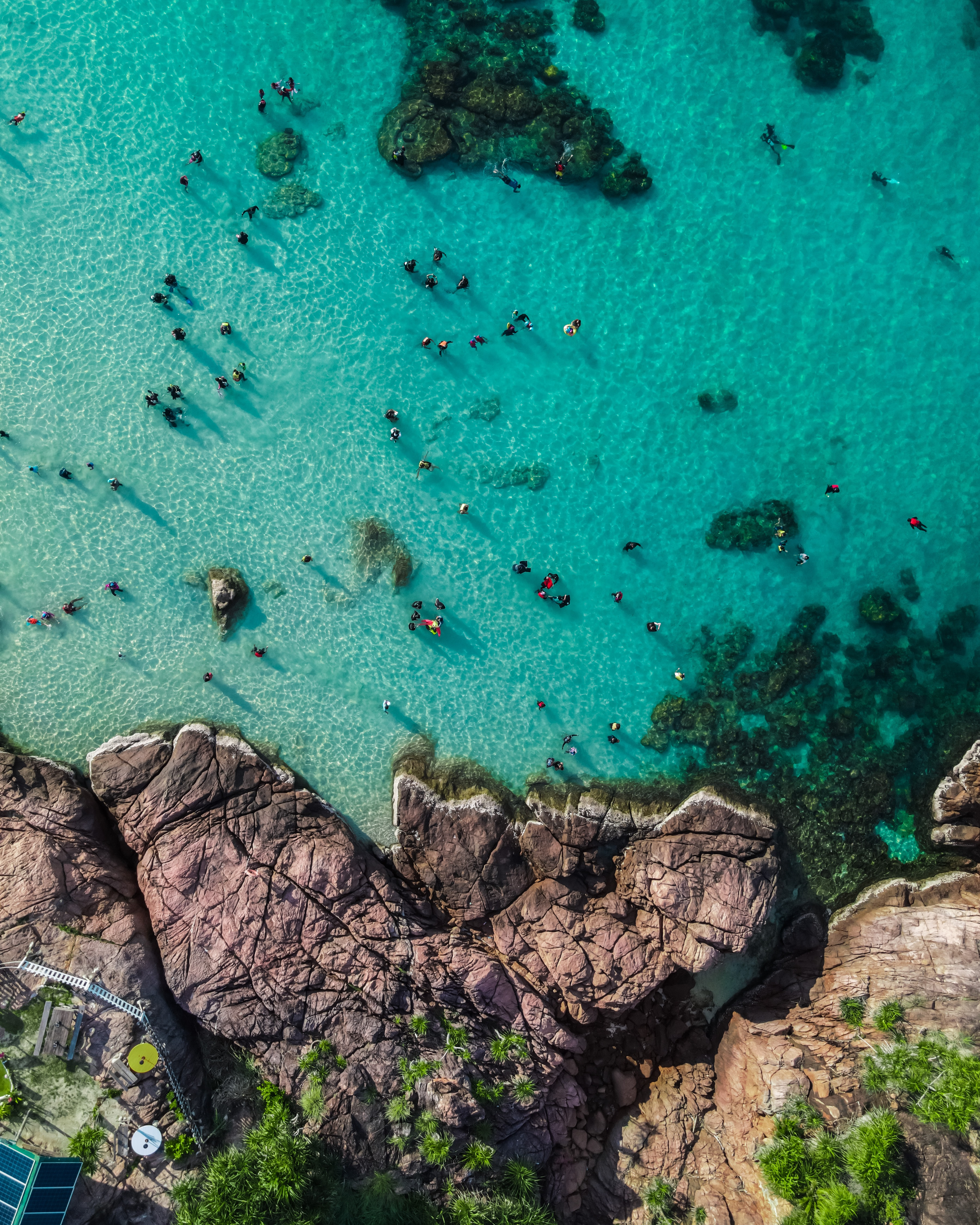 80101 download wallpaper People, Nature, Sea, Rocks, View From Above, Coast screensavers and pictures for free