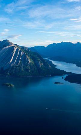 142151 скачать обои Природа, Море, Озеро, Остров, Горы - заставки и картинки бесплатно