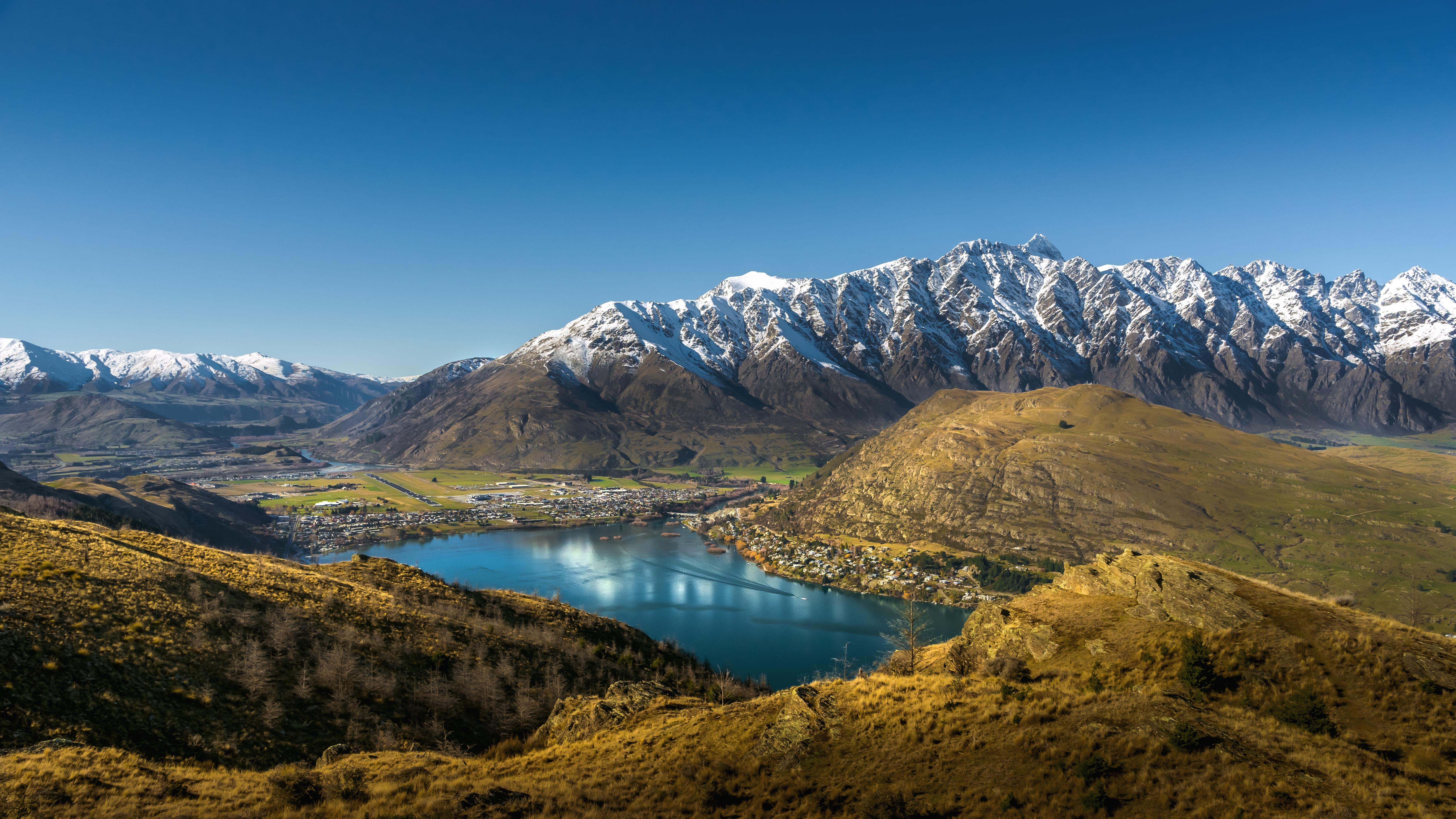 117131 Screensavers and Wallpapers New Zealand for phone. Download Nature, Mountains, Lake, New Zealand, Foothills, Foothill, Ridge, Spine, Queenstown pictures for free