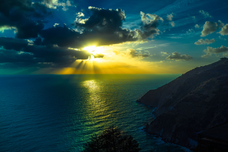 146381 скачать обои Природа, Море, Океан, Горы, Ночь, Облака - заставки и картинки бесплатно