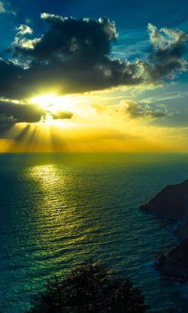 146381壁紙のダウンロード自然, 海, 海洋, 大洋, 雲, ナイト, 山脈-スクリーンセーバーと写真を無料で