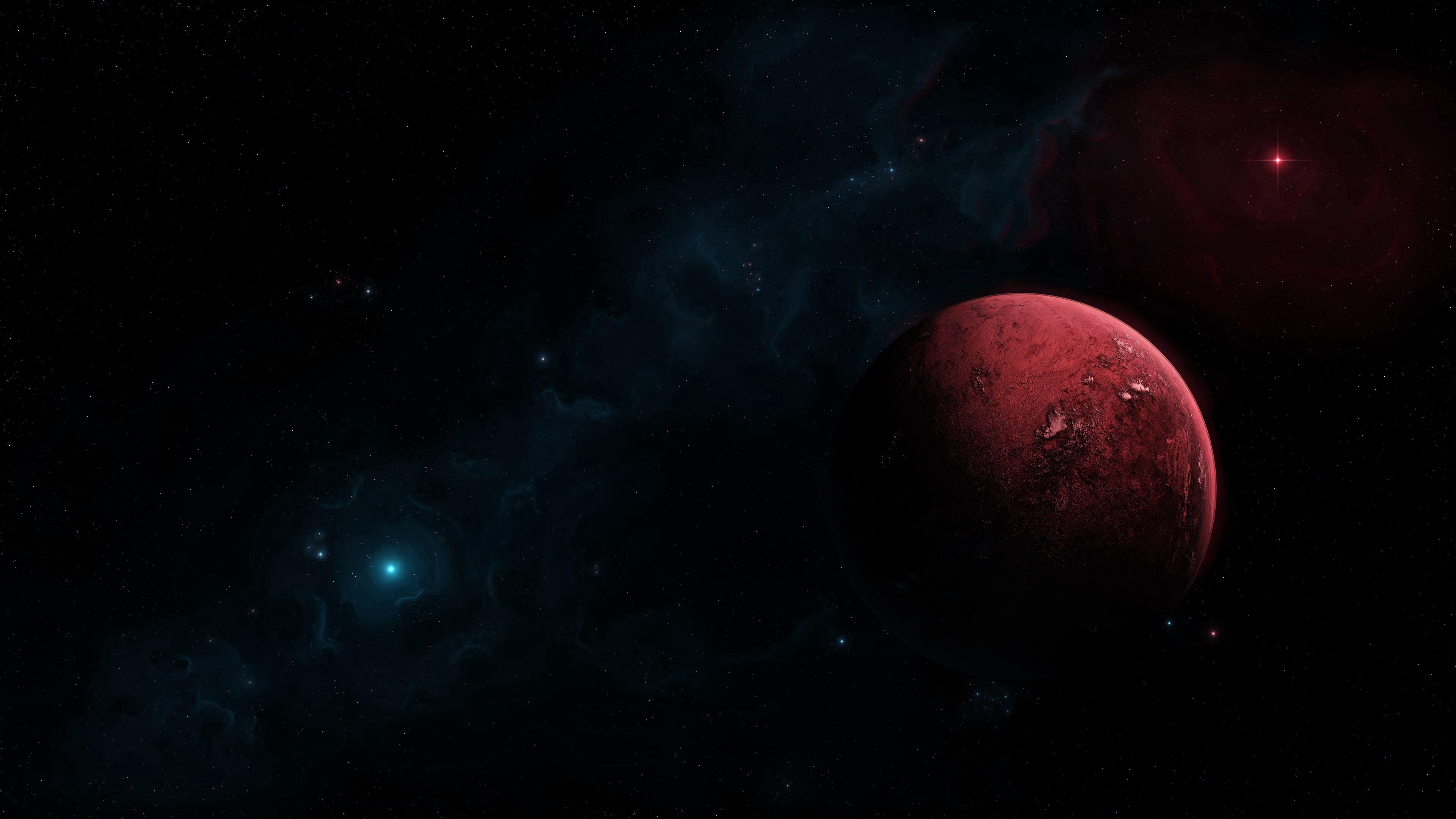111731 Hintergrundbild herunterladen Universum, Sterne, Dunkel, Planet, Planeten, Freifläche, Offener Raum - Bildschirmschoner und Bilder kostenlos