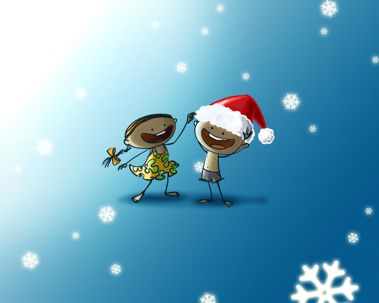 10738 скачать обои Юмор, Праздники, Дети, Новый Год (New Year), Рождество (Christmas, Xmas), Рисунки - заставки и картинки бесплатно