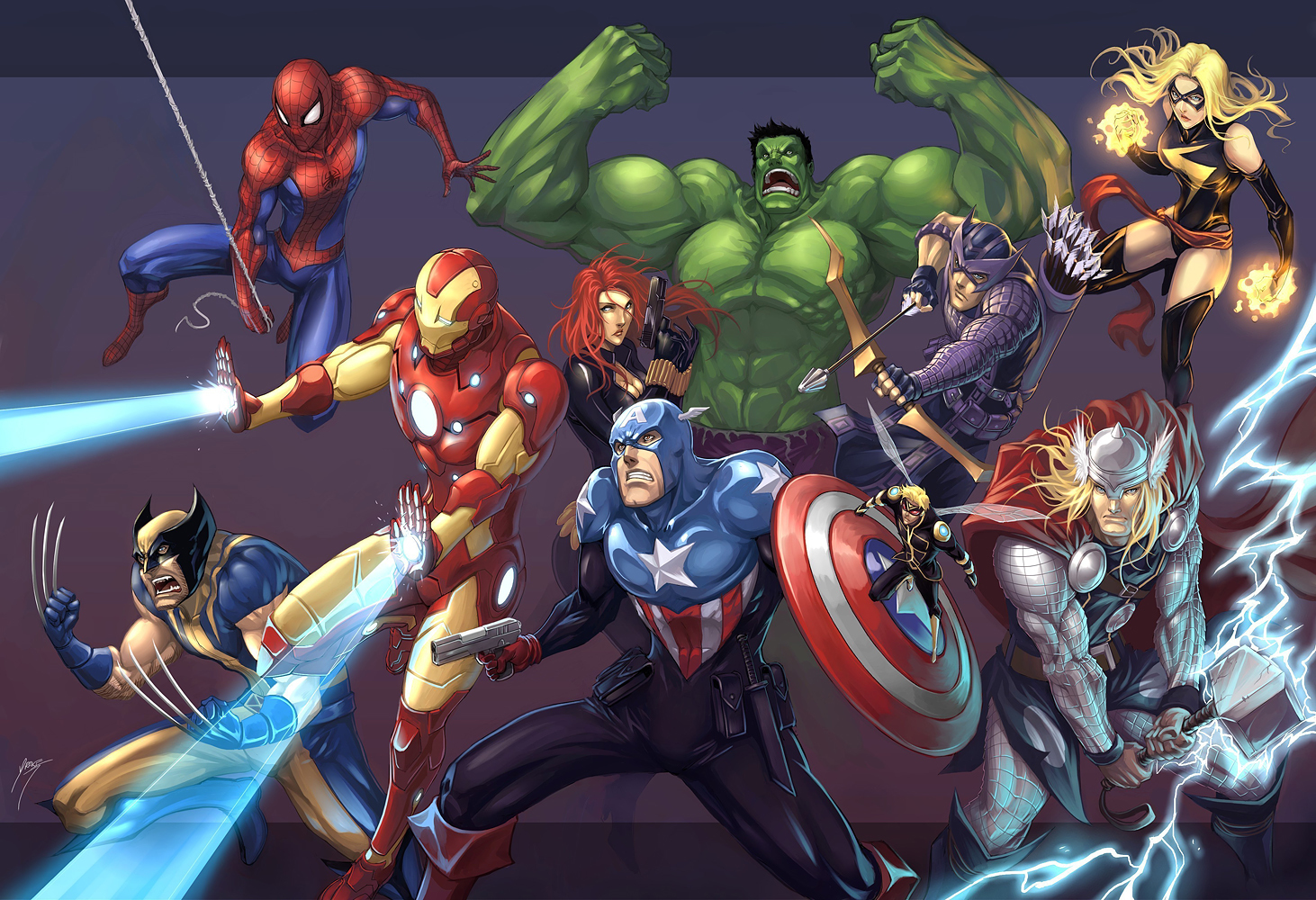 15563 download wallpaper Cartoon, Avengers, Pictures screensavers and pictures for free