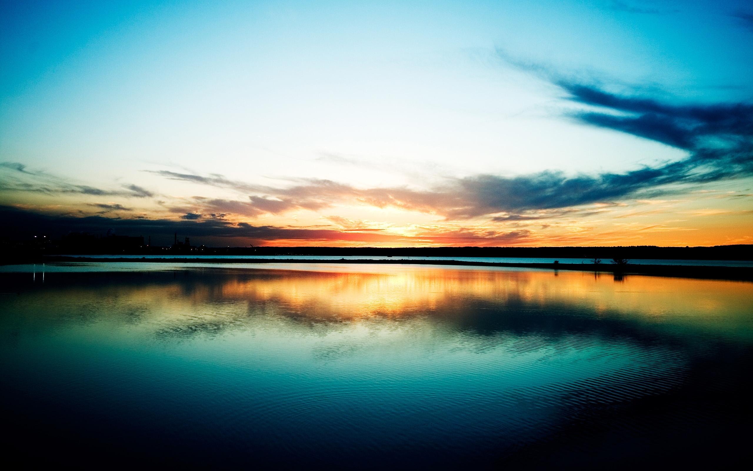 6752 скачать обои Пейзаж, Закат, Небо, Озера - заставки и картинки бесплатно
