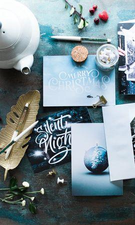 63143 скачать обои Разное, Рождество, Чаепитие, Ягоды, Открытки - заставки и картинки бесплатно