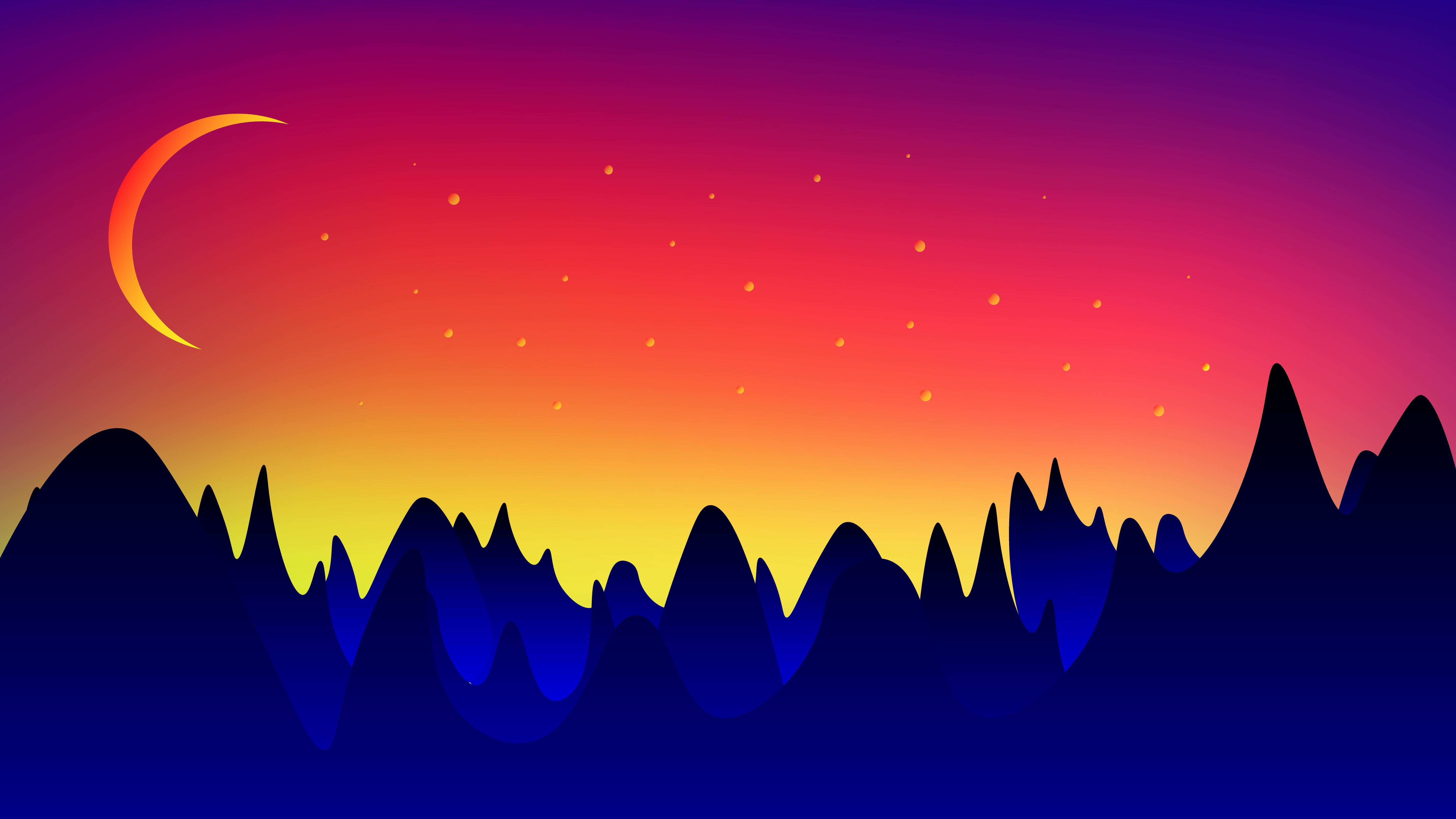 90358 Protetores de tela e papéis de parede Montanhas em seu telefone. Baixe Paisagem, Montanhas, Lua, Vetor fotos gratuitamente