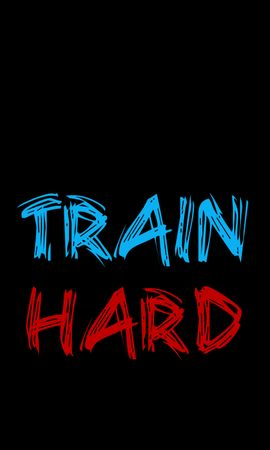 98355 Заставки и Обои Спорт на телефон. Скачать Слова, Надпись, Тренировки, Спорт, Мотивация, Train Hard картинки бесплатно