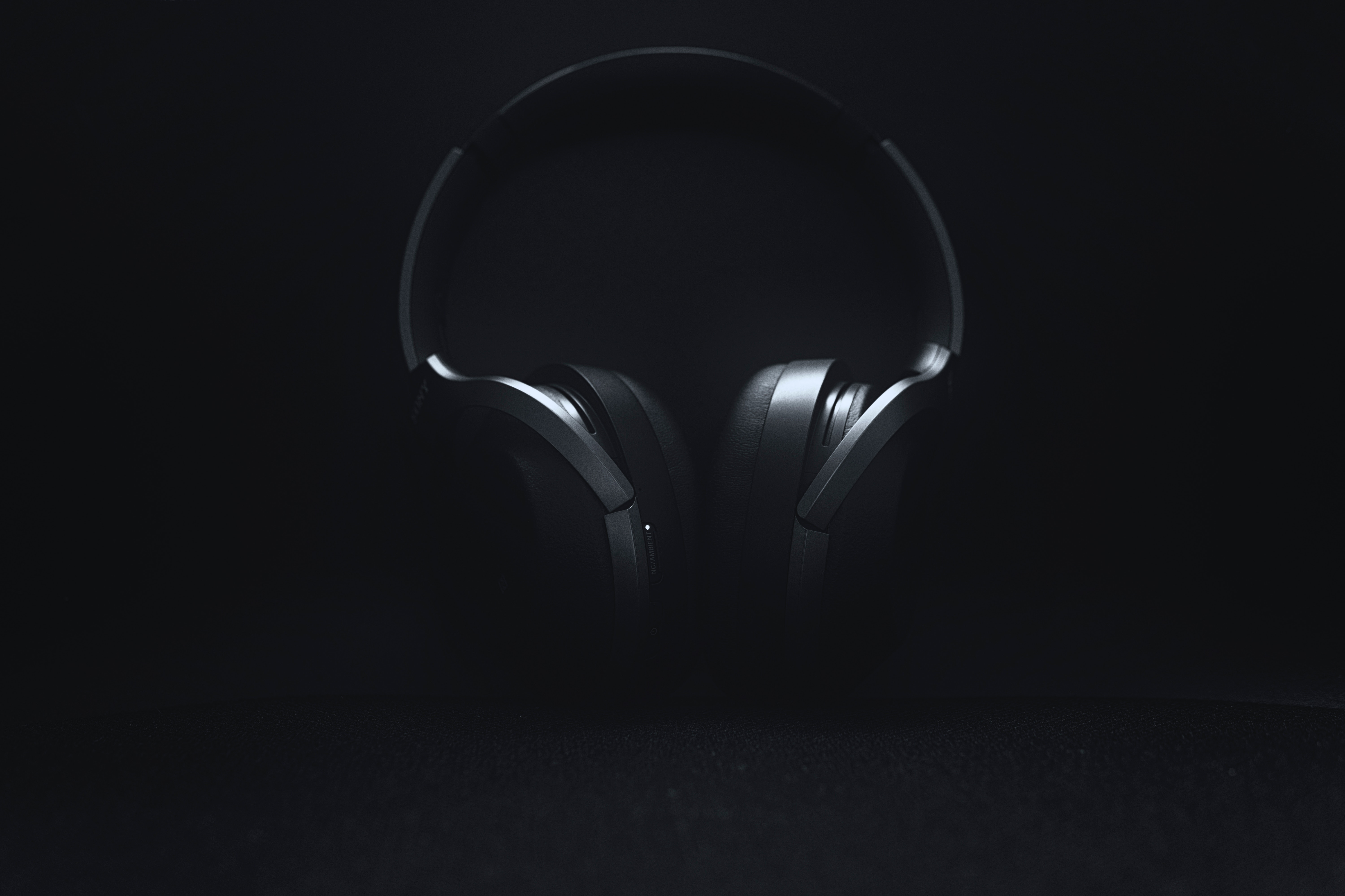 132954 download wallpaper Minimalism, Music, Headphones, Grey, Audio screensavers and pictures for free
