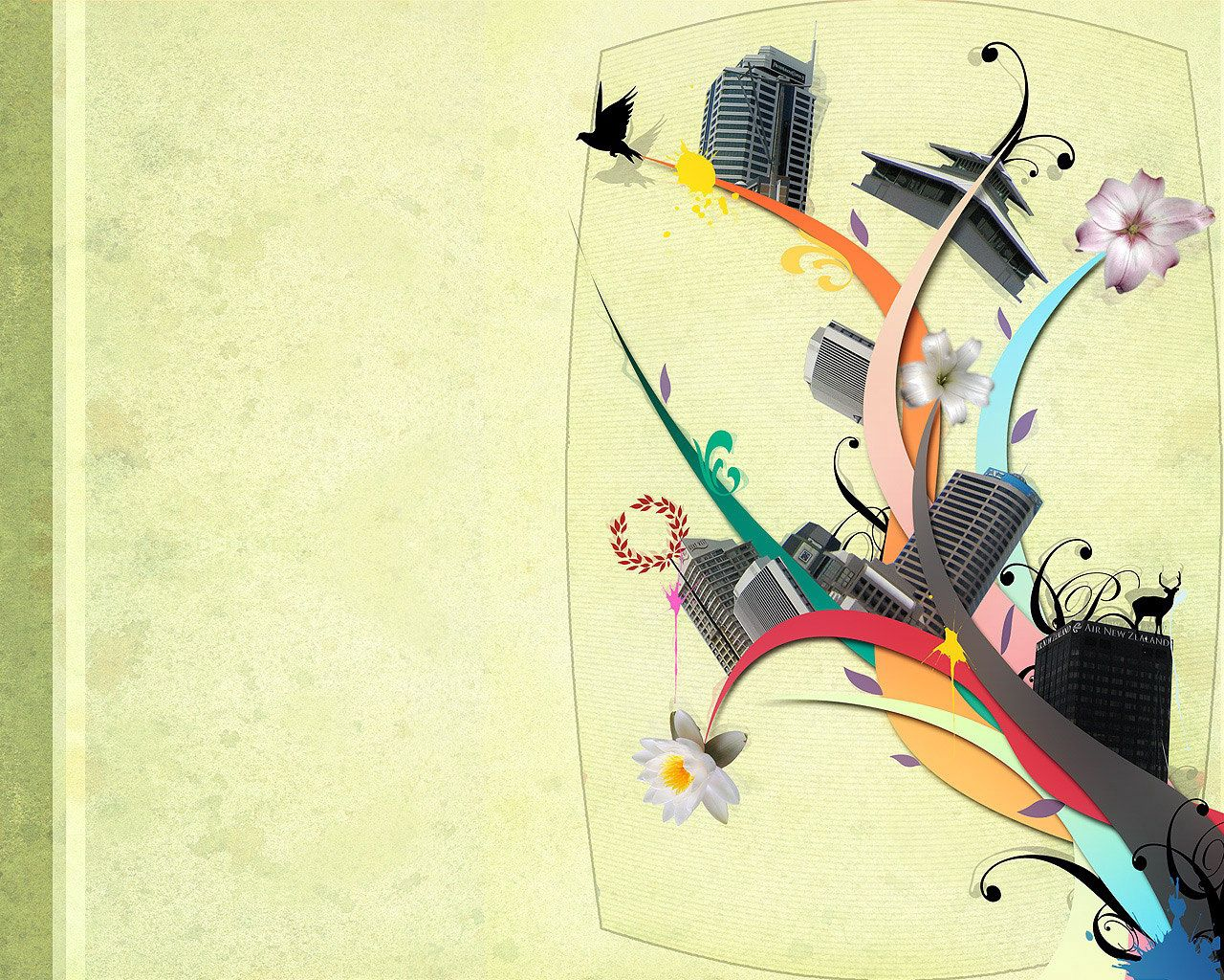 109570 download wallpaper Vector, Tower, Multicolored, Motley, Animal, Abstract screensavers and pictures for free