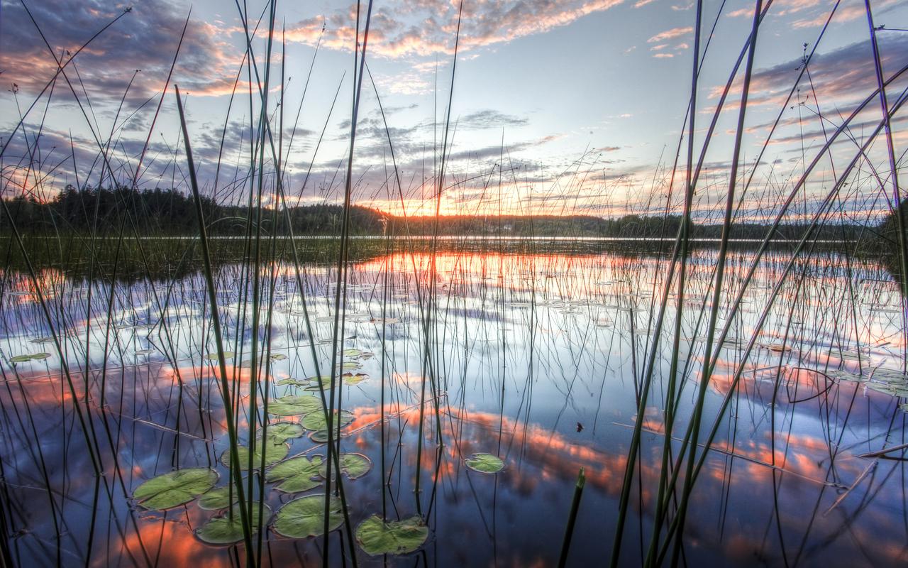 15108 скачать обои Пейзаж, Вода, Закат, Озера - заставки и картинки бесплатно
