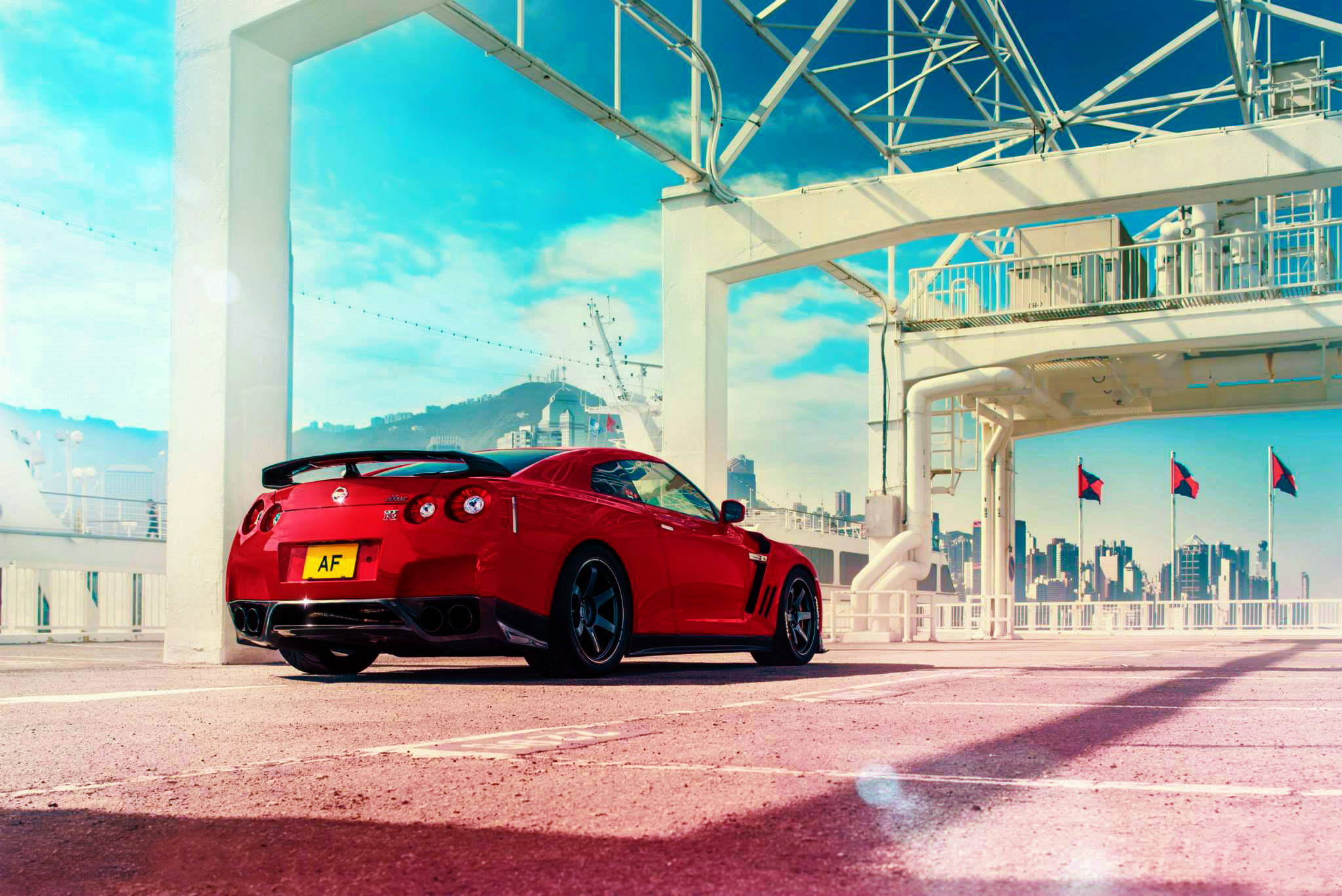 126455 Screensavers and Wallpapers Nissan for phone. Download Sports, Nissan, Cars, Sports Car, Back View, Rear View, Gt-R pictures for free