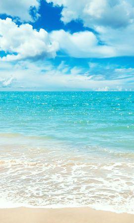 20726 скачать обои Пейзаж, Небо, Море, Облака, Пляж - заставки и картинки бесплатно