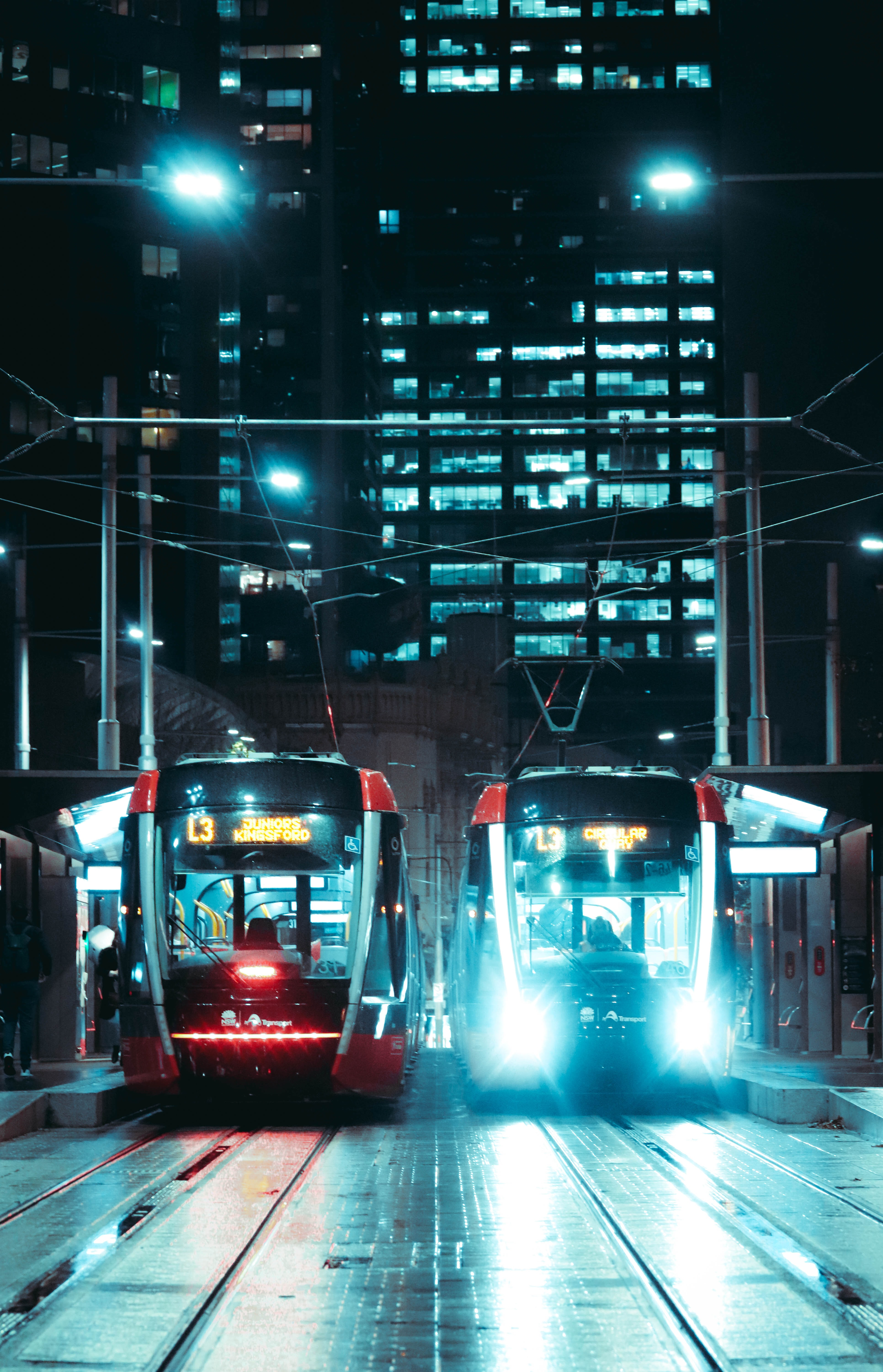 77415 скачать обои Разное, Поезда, Свет, Ночь, Улица - заставки и картинки бесплатно