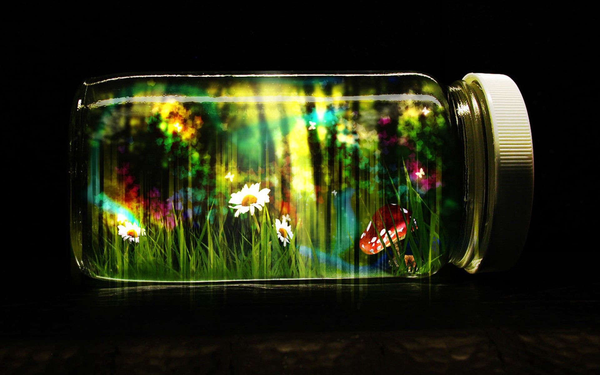 58751 Screensavers and Wallpapers Butterflies for phone. Download Abstract, Bank, Jar, Glass, Cap, Lid, Butterflies, Nature, Fantasy pictures for free