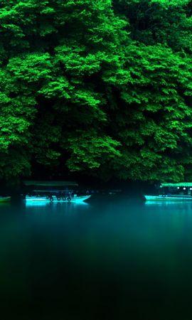 20408 скачать обои Пейзаж, Река, Деревья, Лодки - заставки и картинки бесплатно