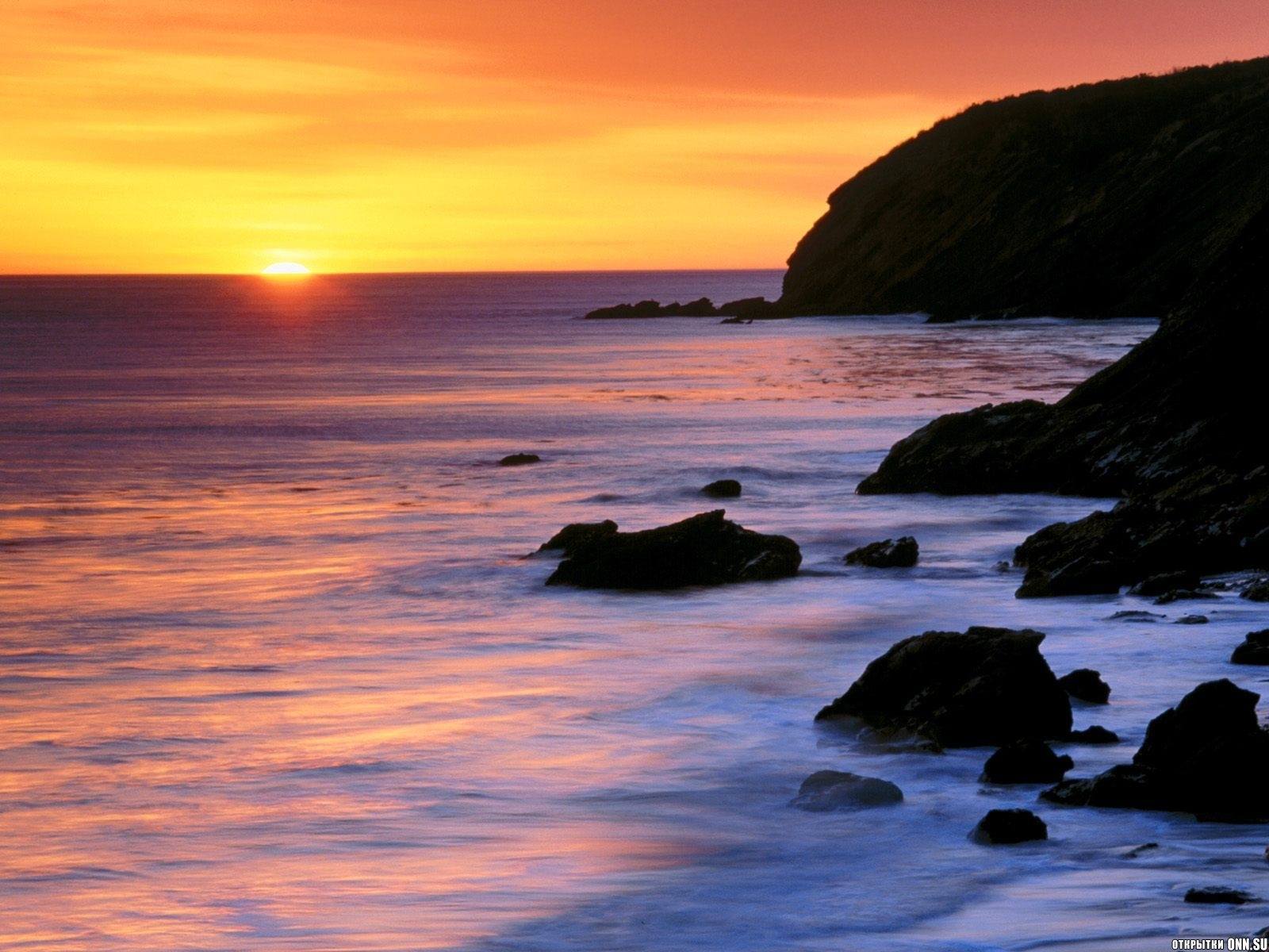 6066 download wallpaper Landscape, Sunset, Sea, Sun screensavers and pictures for free