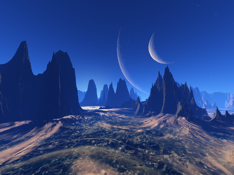 121708 Заставки и Обои Космос на телефон. Скачать Космос, Вселенная, Планета, Арт, Горы, Внеземной картинки бесплатно