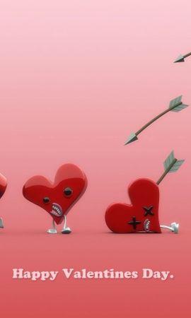 2419 descargar fondo de pantalla Divertido, Vacaciones, Corazones, Amor, Día De San Valentín: protectores de pantalla e imágenes gratis