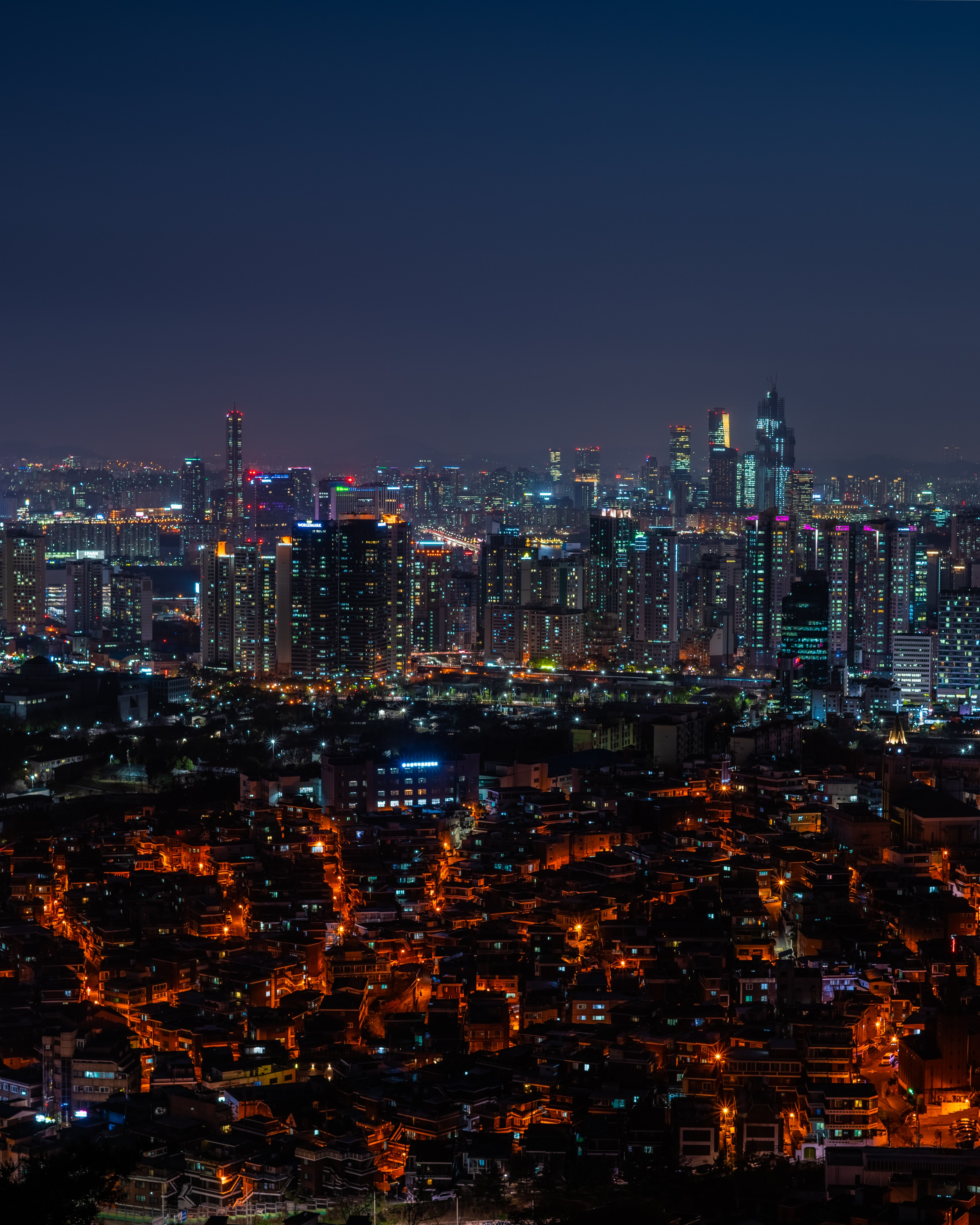 136298 Screensavers and Wallpapers Architecture for phone. Download City, View From Above, Building, Night, City Lights, Urban Landscape, Cityscape, Panorama, Architecture, Cities pictures for free