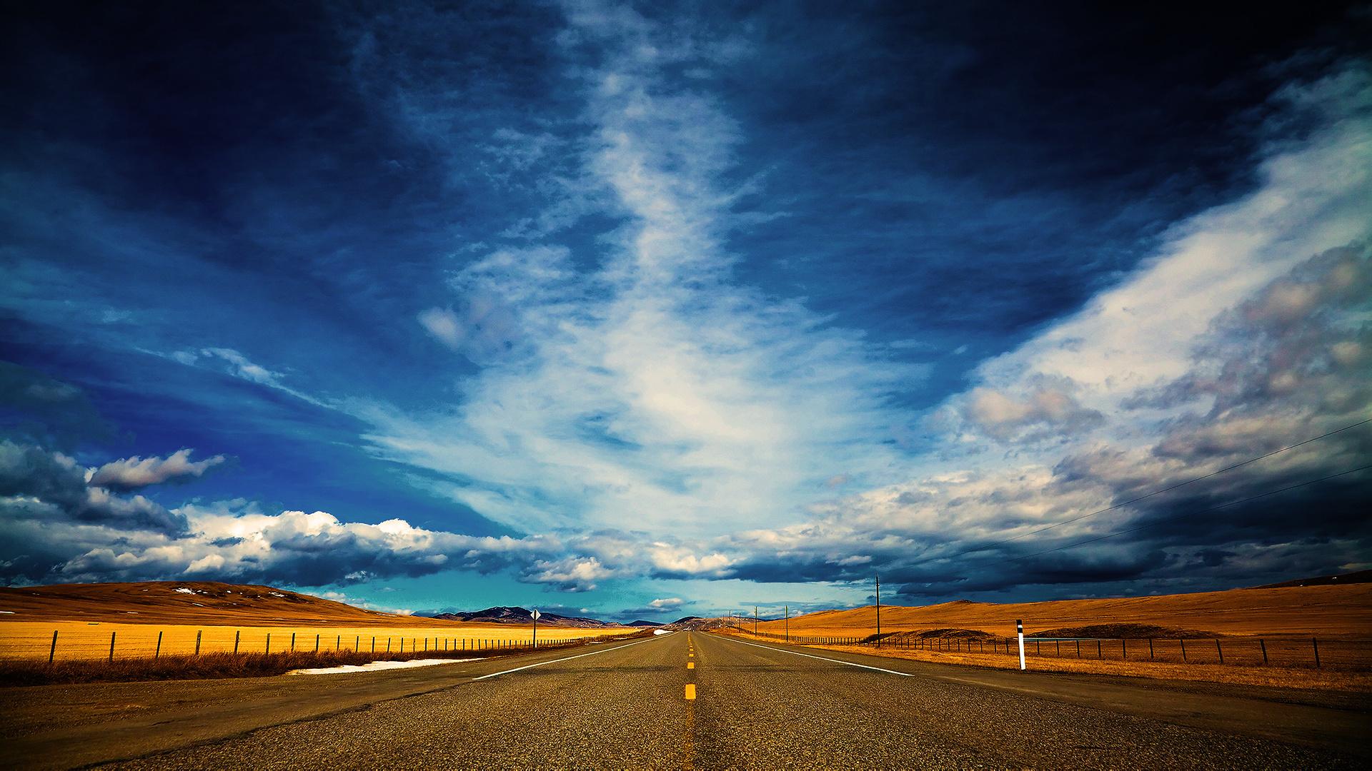 20449 скачать обои Пейзаж, Небо, Дороги - заставки и картинки бесплатно