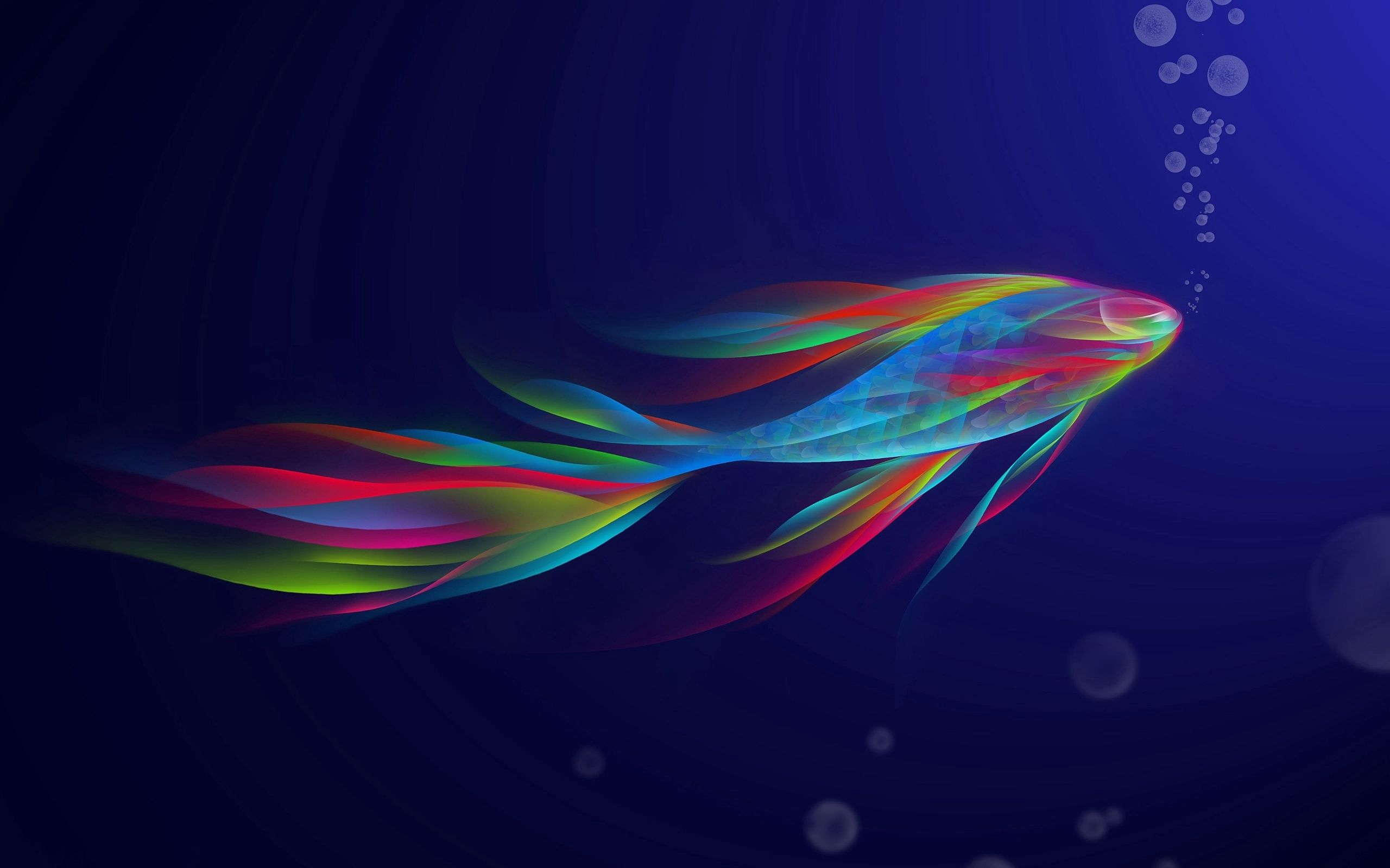 131243 download wallpaper Abstract, Swimming, Rainbow, Form, Iridescent, Fish screensavers and pictures for free