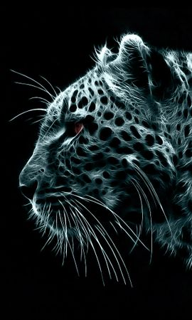 9630 download wallpaper Animals, Art, Leopards screensavers and pictures for free