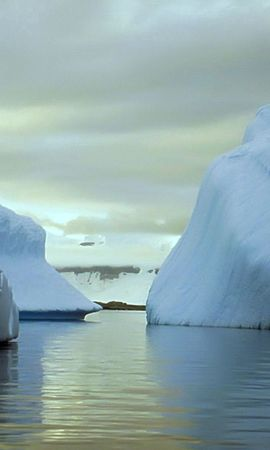 124314 скачать Белые обои на телефон бесплатно, Природа, Айсберги, Антарктида, Глыбы, Холод, Безмолвие, Пустота Белые картинки и заставки на мобильный