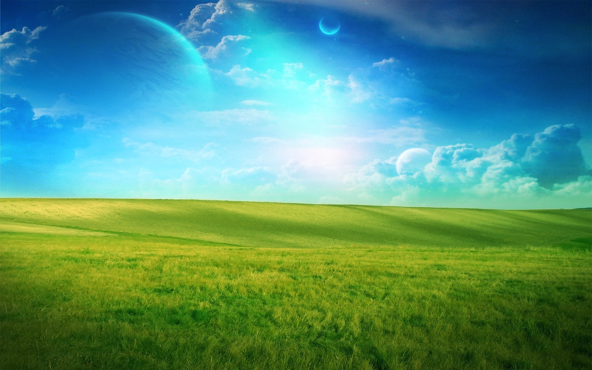 8418 скачать обои Пейзаж, Трава, Небо - заставки и картинки бесплатно