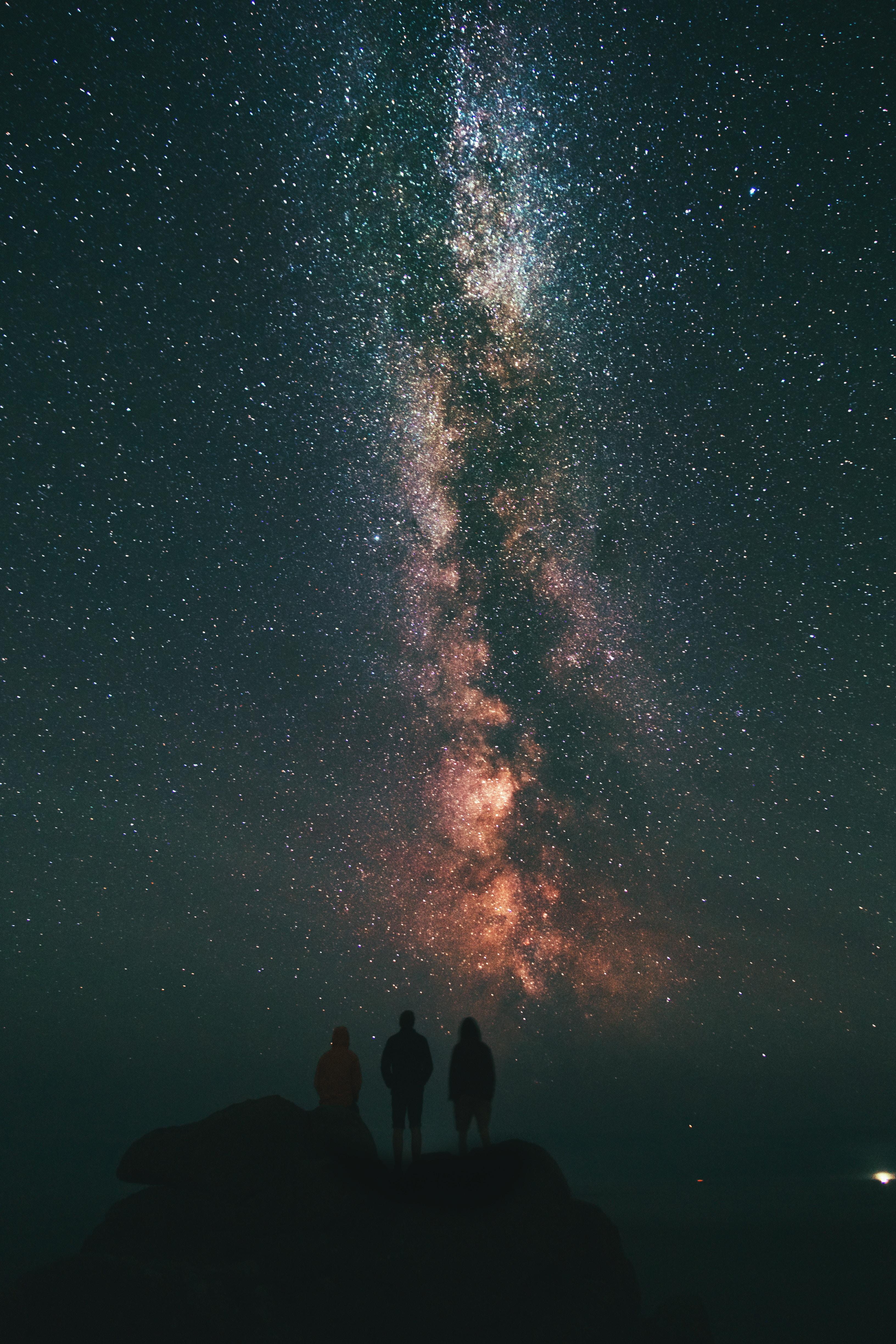 148115壁紙のダウンロード星空, ピープル, 天の川, ナイト, スカイ, 宇宙-スクリーンセーバーと写真を無料で
