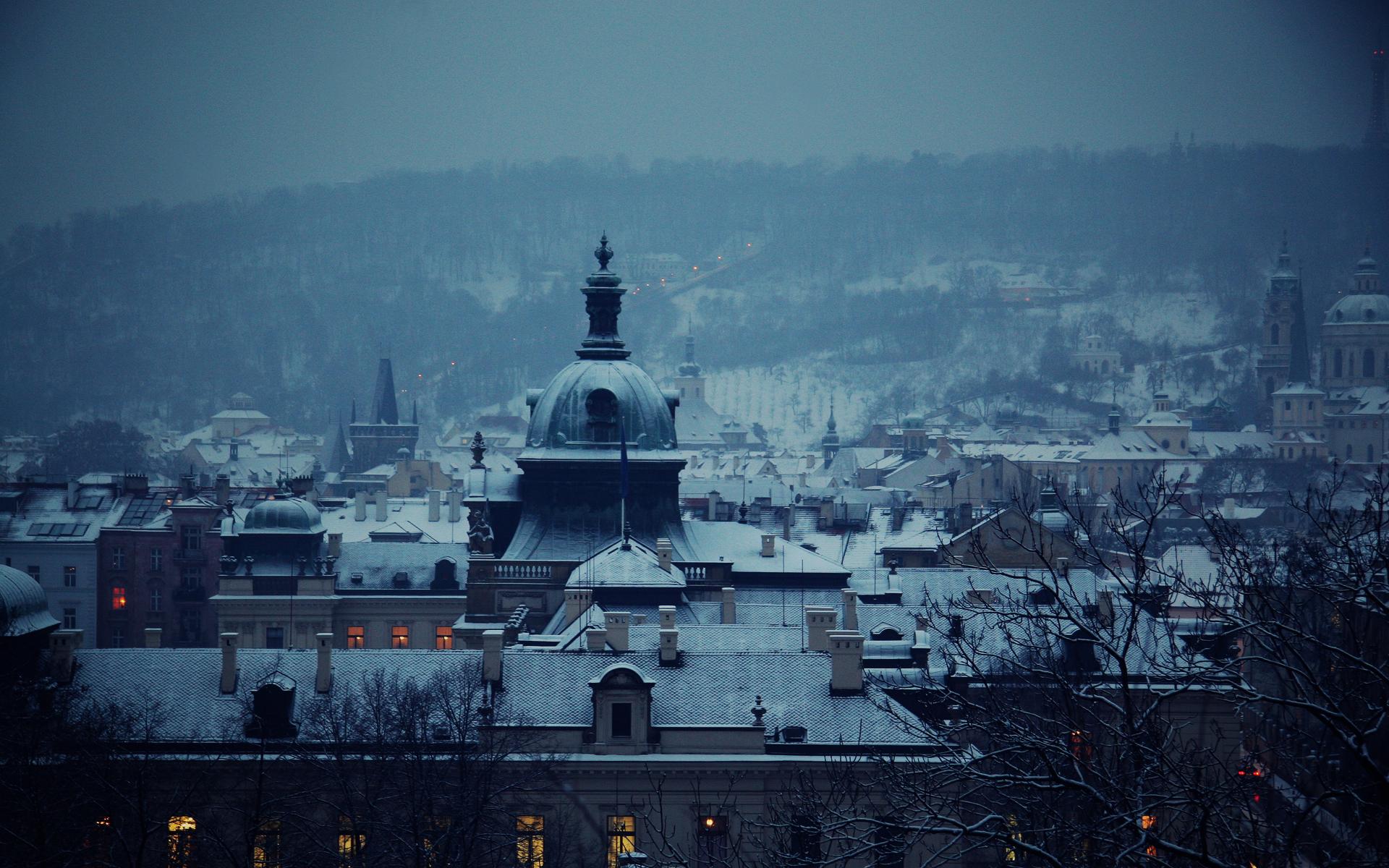 Скачать картинку Зима, Снег, Пейзаж, Города в телефон бесплатно.
