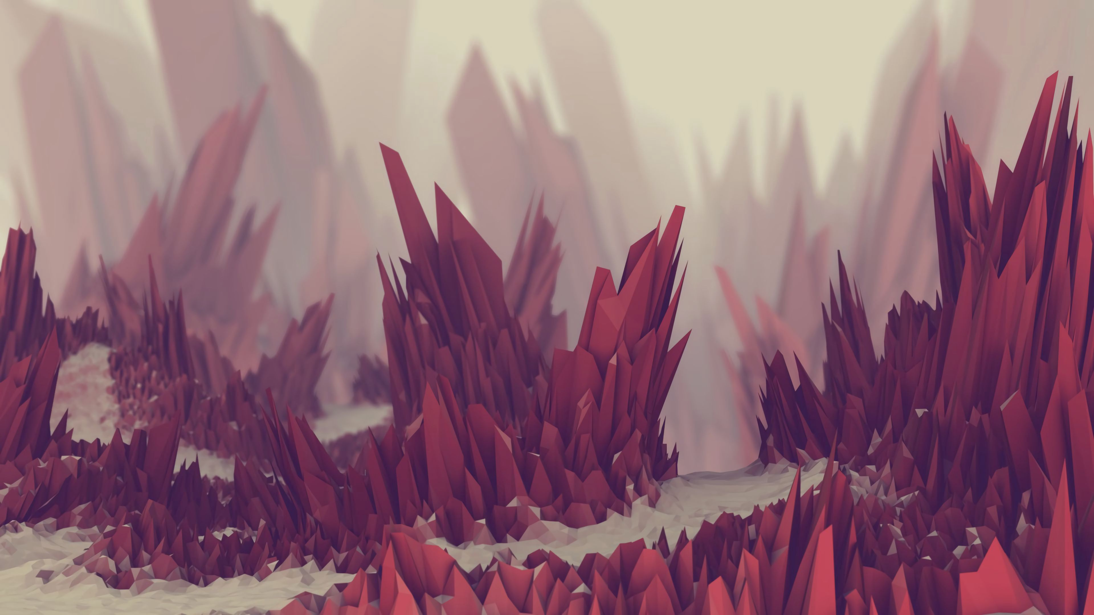 143954 download wallpaper 3D, Barbed, Spiny, Crystals screensavers and pictures for free