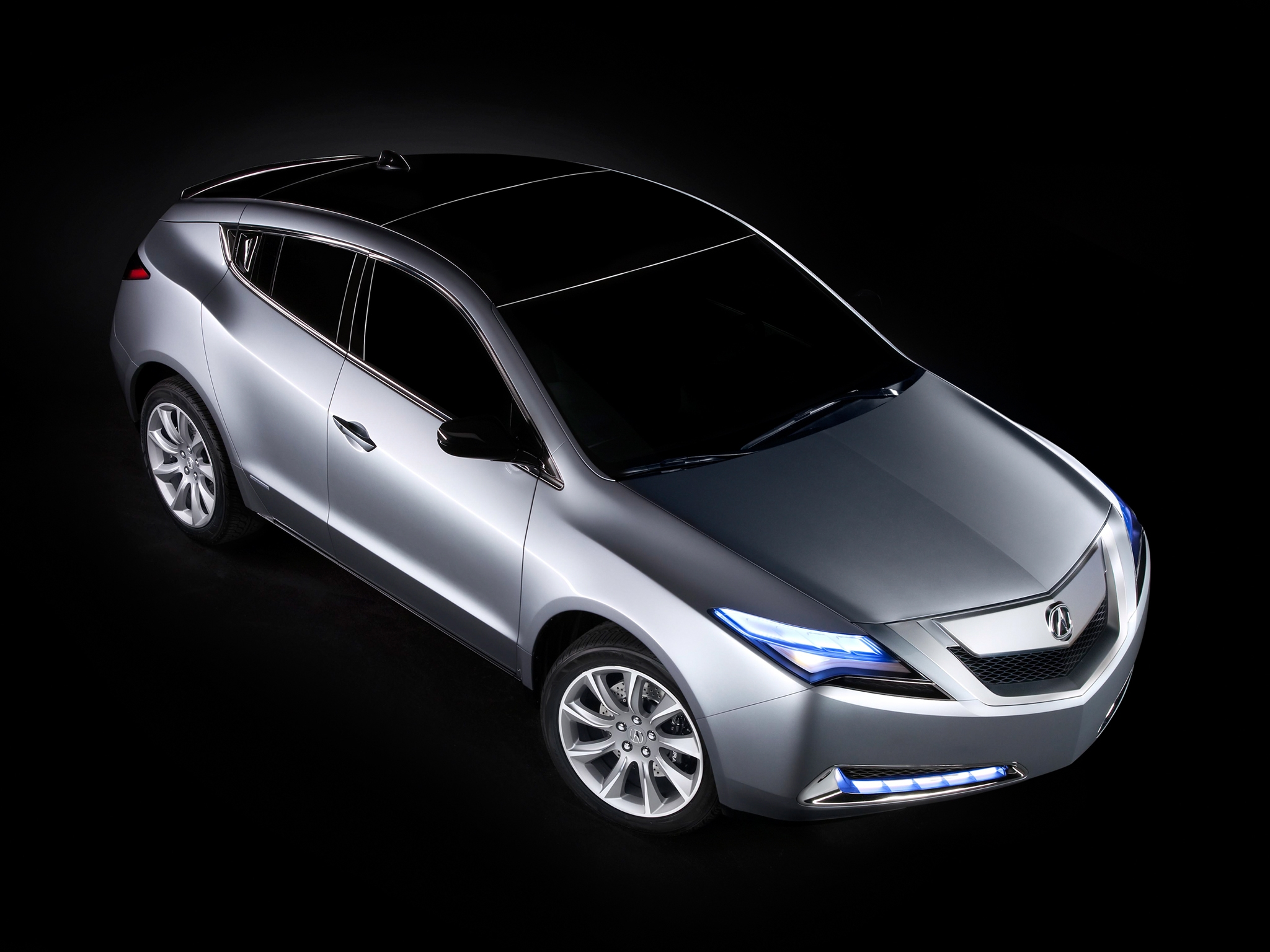 52131 download wallpaper Cars, Acura, Zdx, 2009, Metallic Gray, Grey Metallic, Concept Car, View From Above, Style, Auto screensavers and pictures for free