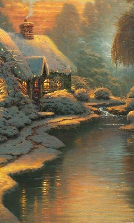 19887 скачать обои Праздники, Зима, Новый Год (New Year), Снег, Рождество (Christmas, Xmas), Рисунки, Снеговики - заставки и картинки бесплатно